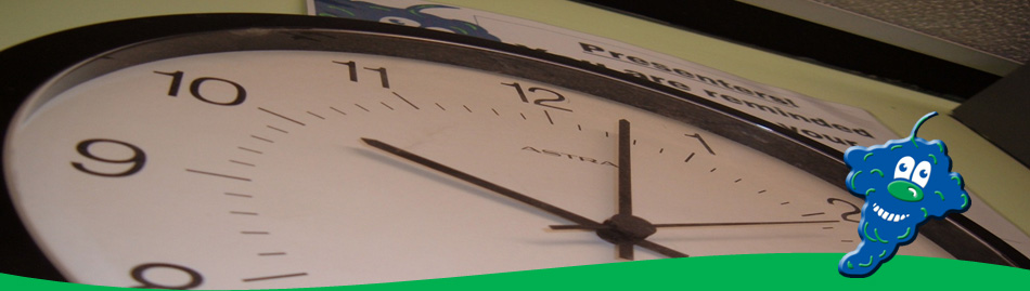 Close up of clock in studio